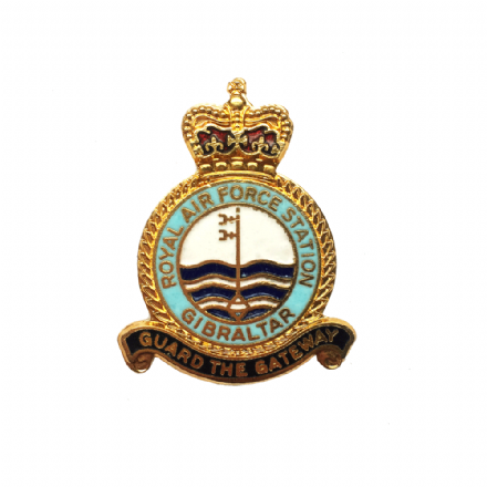 Royal Air Force RAF Station Gibraltar Lapel Badge